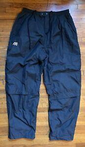 Vintage Pantalones De Golf Mizuno Lluvia Impermeable Hombre Grande Pantalon Rompevientos Negro Ebay