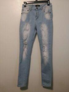 Mao Angustia Elastizados Ajustados Pantalones Vaqueros Azul Claro Para Mujer Talla 7 Pre Propiedad Ebay