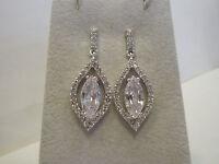 Nolan Miller White Hot Drop Simulated Diamond Earrings 1-1/2