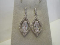 Nolan Miller White Hot Drop Simulated Diamond Earrings 1-1/2