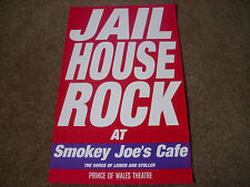 JAIL HOUSE ROCK  at Smokey Joe's Cafe  PRINCE of WALES  Theatre Original Poster