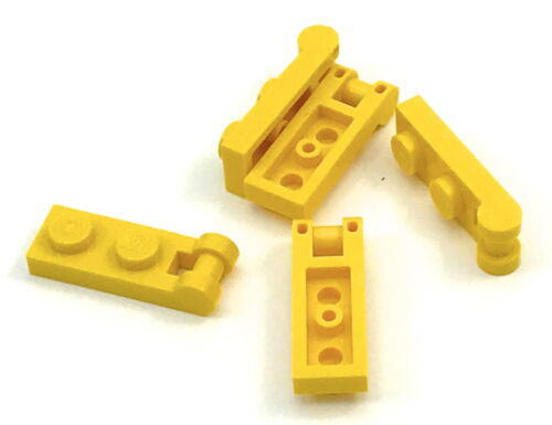 Lego Lot of 5 New Yellow Plates Modified 1 x 2 with Handle on End Pieces
