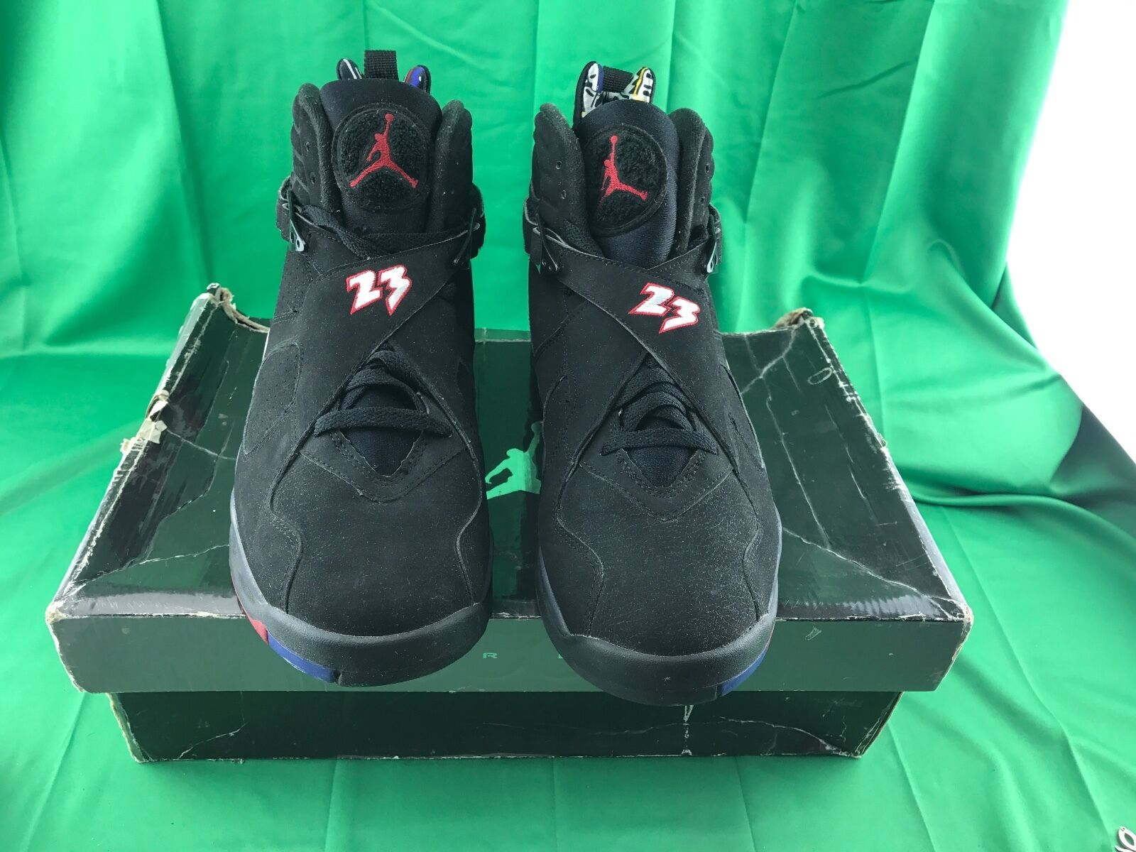 2007 Nike Air Jordan Retro VIII 8 Playoff SZ 12 305381-061 Used Black