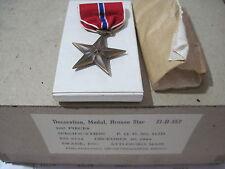 US WW2 BRONZE STAR Medal Slot Brooch by Swank Inc Dec. 30, 1944 boxed original