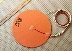 Dia-10-Pulgadas-400w-120v-Delta-Impresora-3d-Heatbed-Ronda-Silicona-Calentador-Pad-3-m-psa-ntc