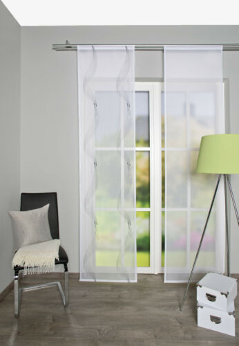 SCHIEBEVORHANG Transparent bedruckt Polyester 60cm x245cm 86718-903 grau