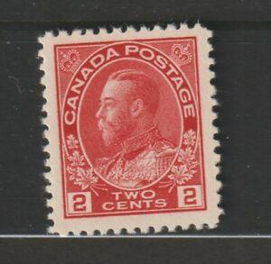CANADA-106-Admiral-2c-carmine-XFNH-ex-Ames-collection