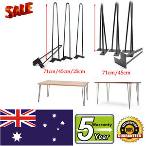 4 Pcs HAIRPIN LEGS - 12MM RODS - POWDER COATED 25cm 45cm 71cm PREORDER FROM AU