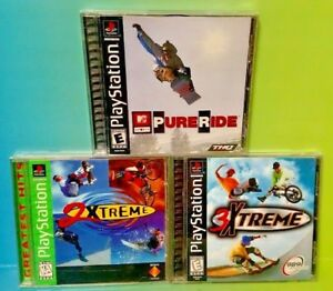 MTV-Sports-Pure-Ride-2-3-Xtreme-Playstation-1-2-PS1-PS2-Rare-Games-Lot