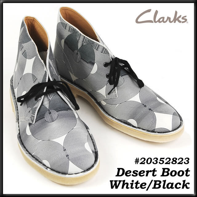 Clarks Originals ** x Stivali Desert ** Pelle Bianco e Nero in Pelle ** ** Uk 7.5,8,9,10,11f 1fed6f