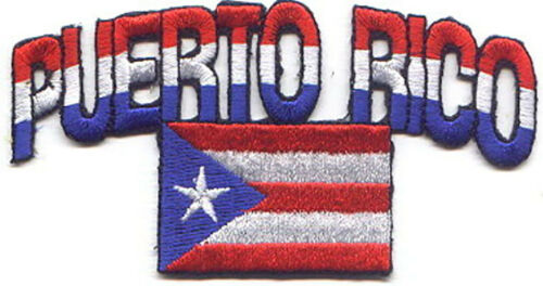 "Arch 25 Pcs  PUERTO RICO//Flag Embroidered Patches 4.75/""x2.5/"" iron-on"