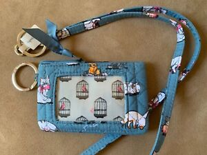 Vera-Bradley-Zip-ID-Case-Lanyard-Set-Two-Piece-Cat-s-Meow-cat-kittens-NWT