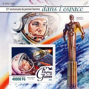 Prudent Yuri Gagarin Cosmonaute/astronaute Premier Homme Dans L'espace Stamp Sheet #2 (2016-guinée)-onaut First Man In Space Stamp Sheet #2 (2016 Guinea)fr-fr Afficher Le Titre D'origine