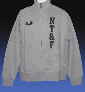 NEW-NIKE-NSW-NT-amp-F-Nike-Track-amp-Field-Cotton-Fleece-Jackets-Grey-XL