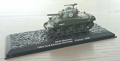 CHAR TANK M4A3 SHERMAN 756th TANK BATTALION 5th ARMY FRANCE 1945 au 1//72°