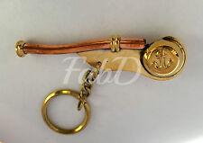 Brand New Batela Nautical Bosun working Captain Whistle Key Ring UK Seller