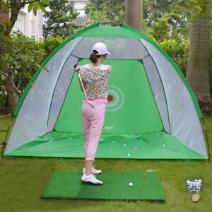 Foldable-Golf-Practice-Driving-Chipping-Hitting-Net-System-Aid-Training-Cage-Mat