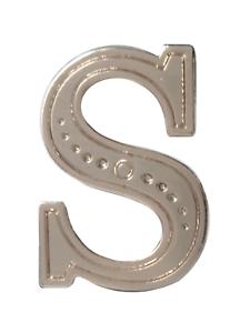 Letter S Nickel-Plated Orange Order Collarette Character