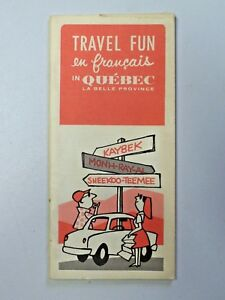 Vintage-1967-Travel-Fun-en-francais-in-Quebec-La-Belle-Province-Travel-Brochure