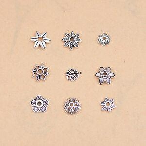 100Pcs-Tibetan-Silver-Charm-Bracelet-Bead-Caps-Jewelry-Findings-6-7-8-9-10MM