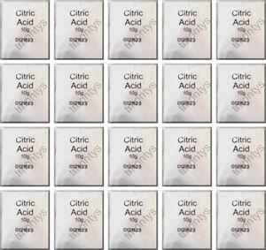 20 x 10 g Sachets Acide Citrique écailleur Fers machines à café Stérilisateurs  </span>