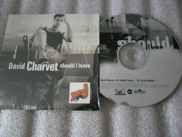 CD-DAVID CHARVET-SHOULD I LEAVE-JE DIS ATTENDS-LA FERME-(CD SINGLE)1997-2TRACK