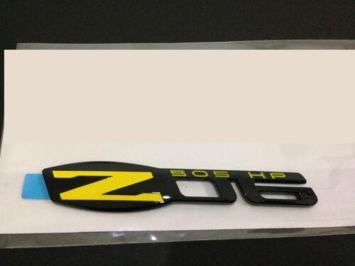 Z06 505 HP EMBLEM GLOSS BLACK YELLOW ZO6 BADGE DECAL x1