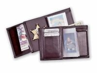 Recessed Badge Wallet With Single Id Window And Cc Slots 12