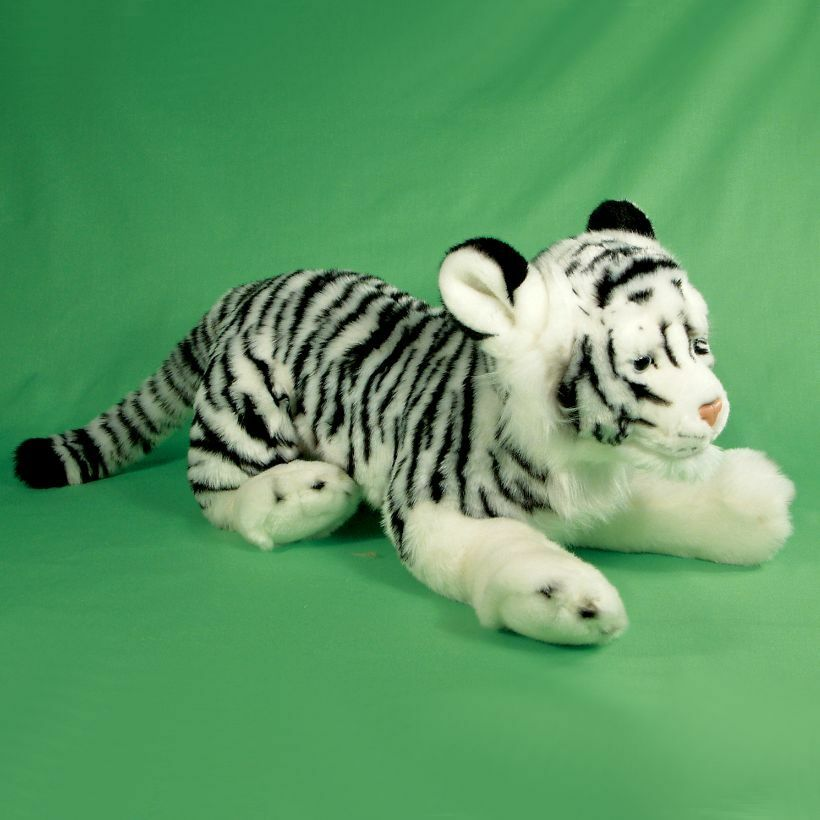 70cm Large White Tiger Soft Toy - Cuddly Toy Animal - 0+ Years - Birthday Gift