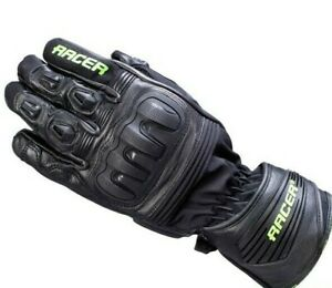 Racer-Speed-Top-Motorrad-Handschuh-Fb-sw-gruen-Gr-L-UVP-129-95