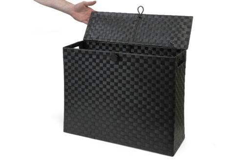 Black Toilet Roll Holder Bathroom Storage Box With Insert Handle