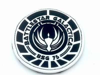 """Battlestar Galactica BSG 75 Logo Tactical Green Patch 3 1//2/"""""""