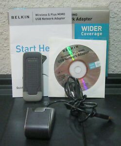 BELKIN G PLUS MIMO ADAPTER DRIVERS FOR WINDOWS DOWNLOAD