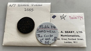 A Middlesex Coin Token Dating To 1665