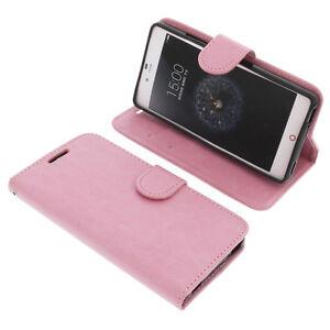 Etui-pour-ZTE-Nubia-Z9-Mini-Style-Livre-Housse-Telephone-Portable-Rose