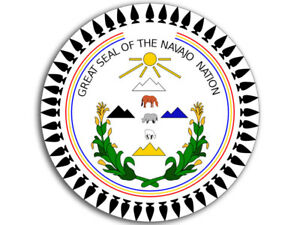 4x4 inch ROUND Great Seal of the Navajo Nation Sticker -tribe ...