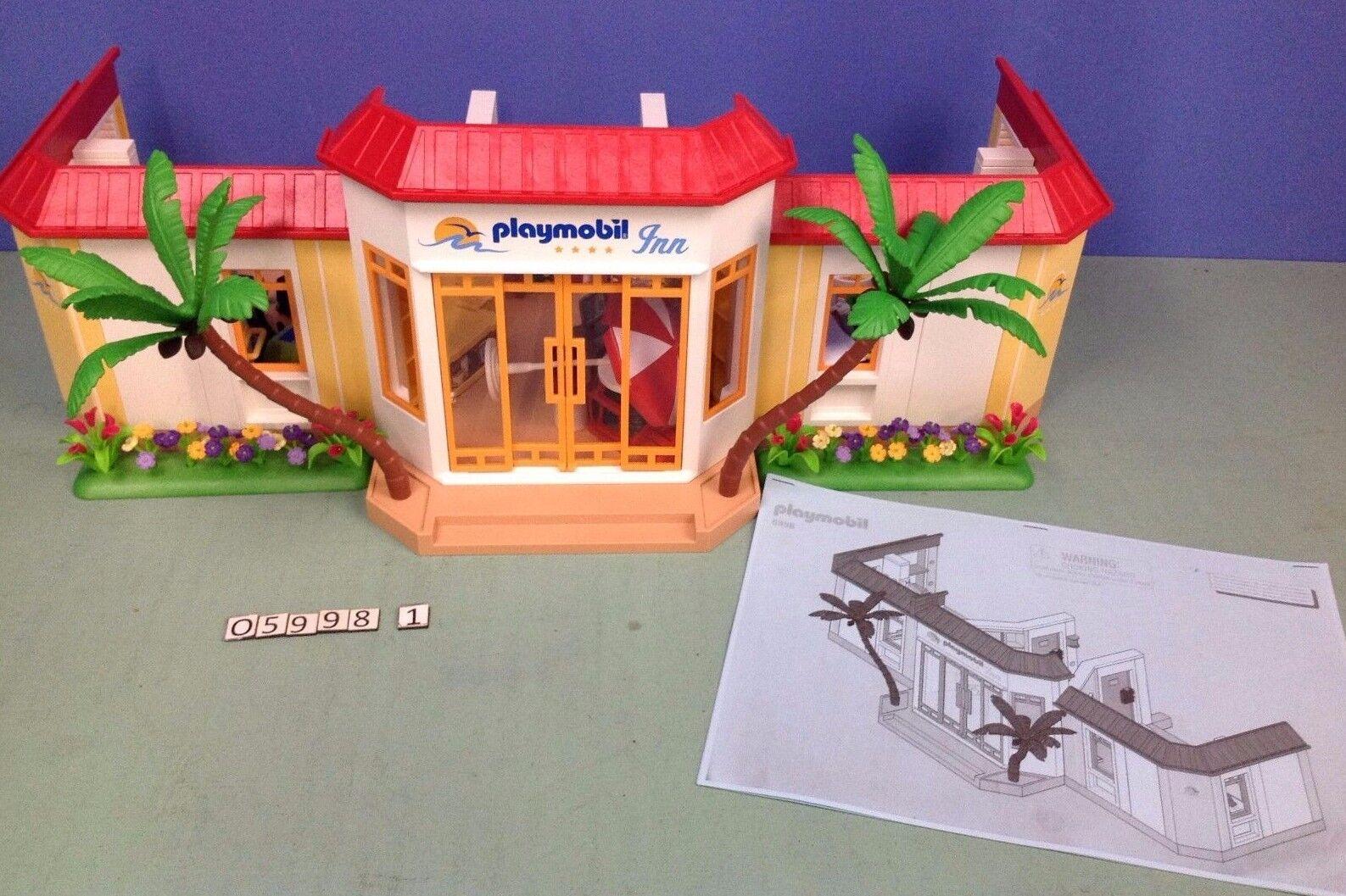 (O5998.1) playmobil Hôtel de la plage ref 5998 complet