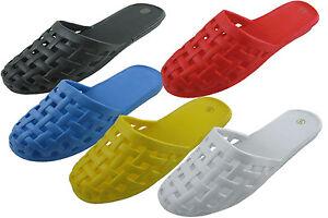 New Women/'s Slide Sandals Slippers Closed Toe Flip Flops Slip on Casual Sizes