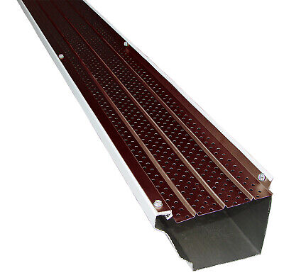 """102/' Brown High Profile 5/"""" Gutter Guards NEW FlexxPoint 30 Year Gutter Cover"""