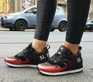 Sixtyseven-Schuh-Leonel-Schwarz-Rot-30274-Textil-Sneaker-Wechselfussbett-Damen