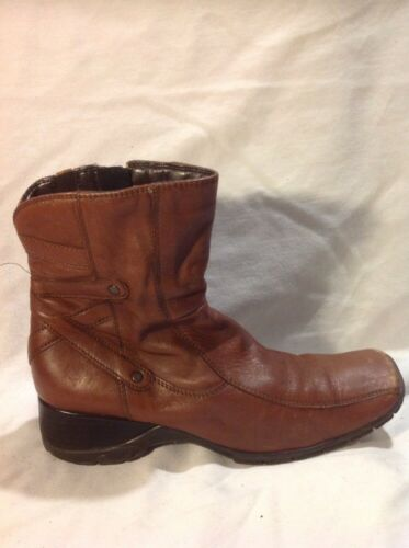 Brown Size 5 Clarks Boots Ankle 5d Leather Ug1dvq