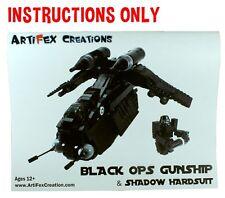 INSTRUCTIONS Custom Lego Star War Black OPs Republic Gunship 7676 75021 75084