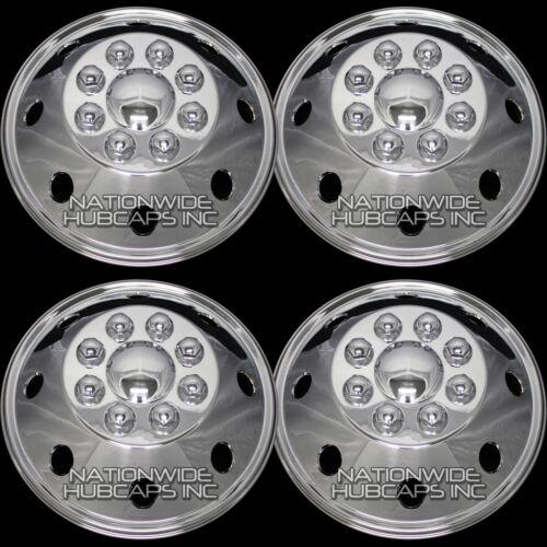 CHROME Chevy GMC 16 8 Lug Dual Wheel Simulators Dually Rim Skins Liners Covers