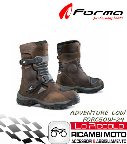 FORMA ADVENTURE LOW MARRONI STIVALI CORTI OFF ROAD ATV QUAD MISURA 40