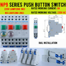 Momentary Button Switch 220v Rail Mounting Onoff Pushbutton Switches Np9 Series