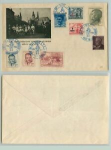 Czechoslovakia-1949-cover-Kosice-used-d7252