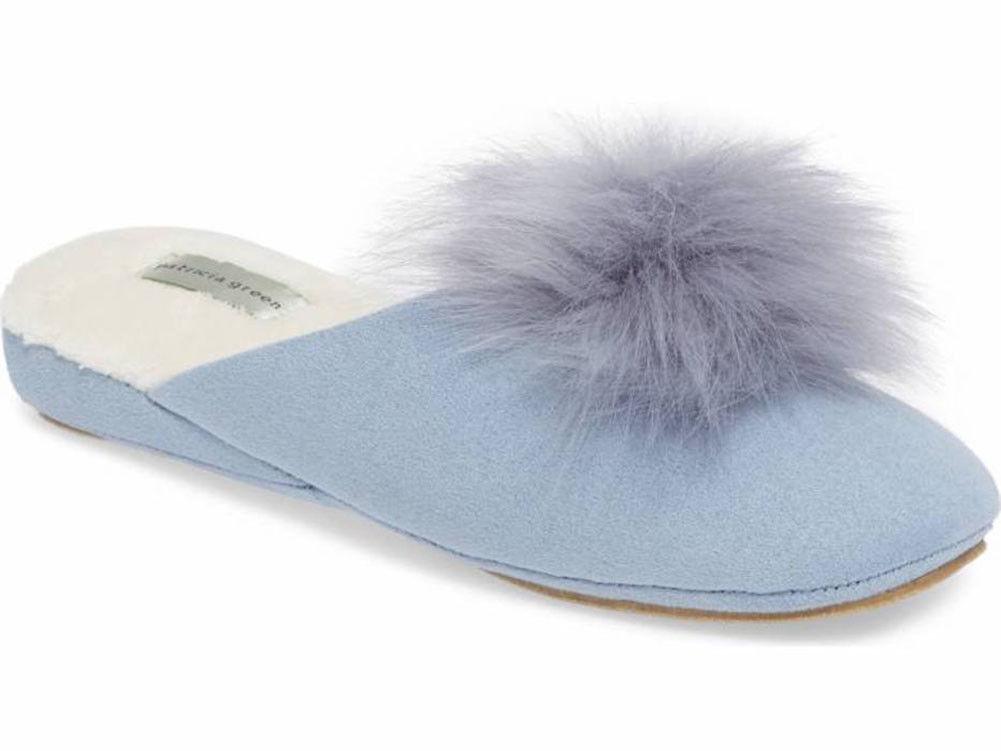 Patricia Green - Pretty Pouf Slipper - Light bluee - Size 9