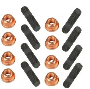 8-St-Stehbolzen-Stiftschraube-Abgaskruemmer-M8x45-Hochfest-8-8-8-St-Muttern