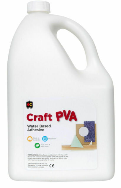 EC Craft Glue PVA Kids Water Based Adhesive Acid Free + Non Toxic - 5 Litre 5L