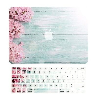 """PINK HYACINTH Matte Case + Keyboard Cover for Macbook Air 13"""" A1369 & A1466"""